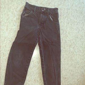 Black demin high waisted jeans for kids